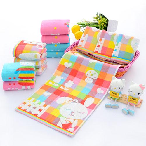 彩色方格儿童毛巾