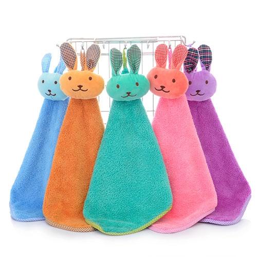 小兔子卡通擦手巾