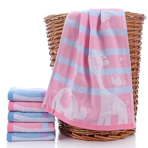小鹿条纹儿童毛巾