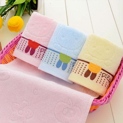 三色儿童毛巾