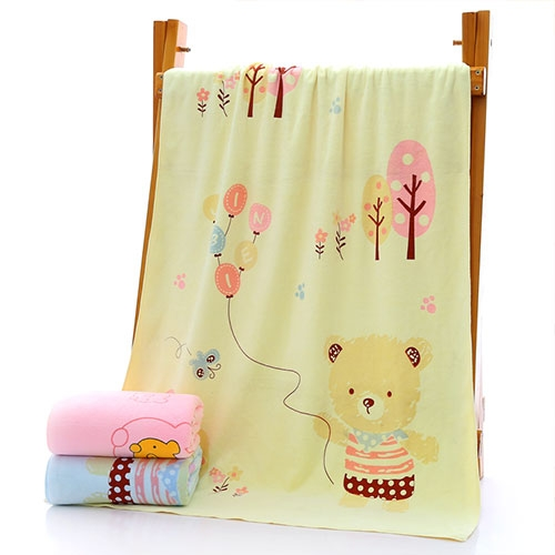 小熊三色浴巾