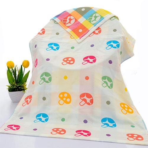 六层纱布纯棉婴儿浴巾