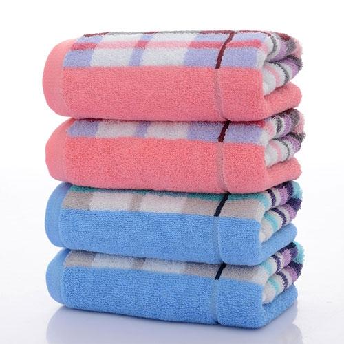 纯棉方格面毛巾