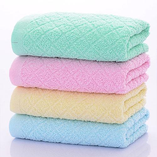超吸水方格图案毛巾